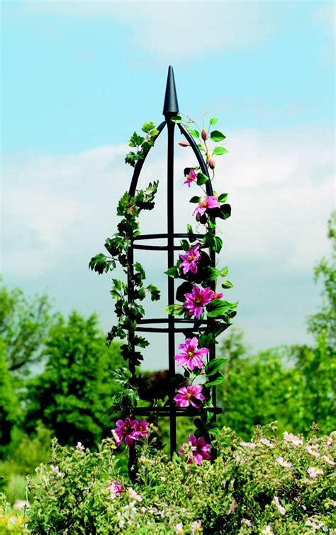 obelisks for climbing plants metal garden obelisks traditional style 1 55m