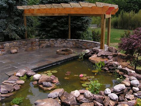 patio koi pond koi pond and fire pit landscape photos pinterest