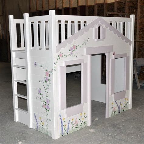 cottage loft bed bunk bed custom designed and built by tanglewood