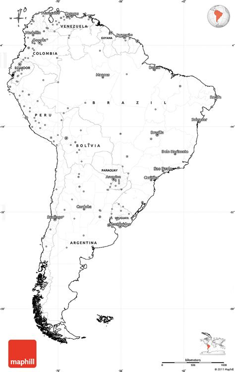 america map simple blank simple map of south america cropped outside