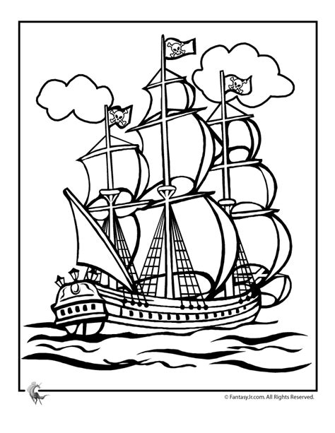 Pirate Ship Coloring Page by Pirate Ships Coloring Pages Az Coloring Pages