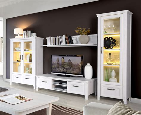 mueble de salon comedor en roble blanco de  cms