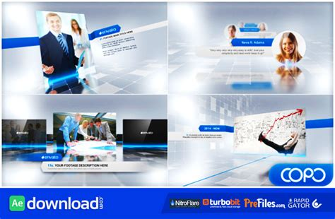 after effects corporate templates free website presentation template ae presentation