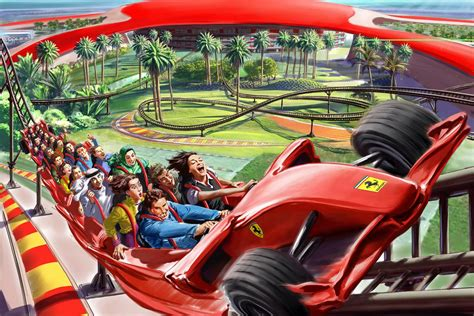 ferrari world ferrari world abu dhabi unveils its attractions and rides