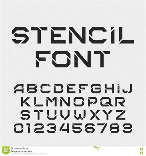 stencil lettering templates stencil alphabet font tough type letters and numbers