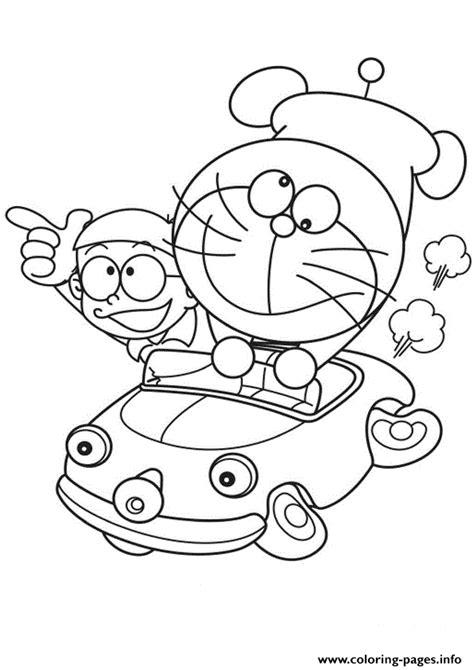 doraemon coloring pages pdf doraemon and nobita driving a car 1906 coloring pages