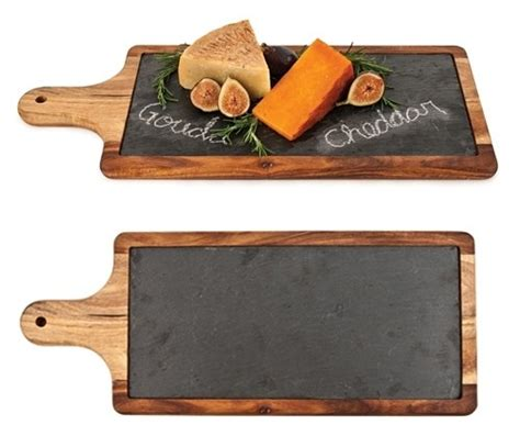 Soapstone Candle Holders Rustic Farmhouse Slate And Wood Paddle Serving Board By
