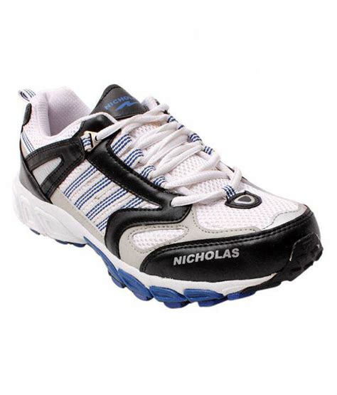 sturdy running shoes buy nicholas sturdy white black running shoes for