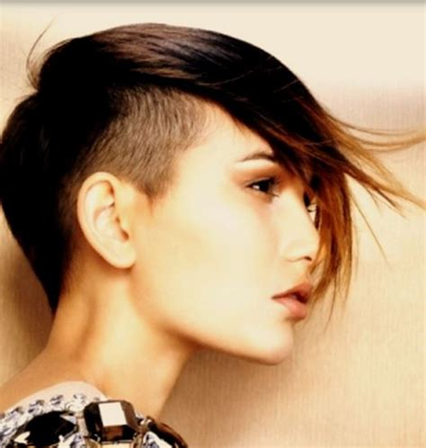 bang spike haircut latest women undercut hair with long spiky bang with