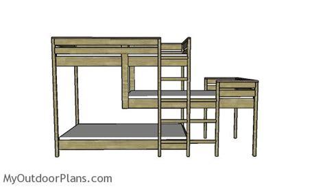 triple bunk bed plans myoutdoorplans  woodworking