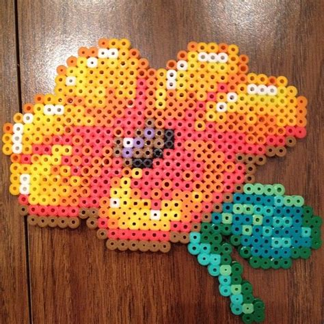 flower perler 42 best images about flower perler on
