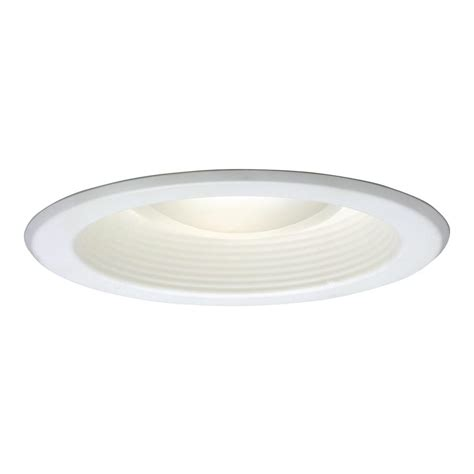 Recessed Ceiling Light Halo 5001 Series 5 In White Recessed Ceiling Light With Baffle Trim 5001p The Home Depot