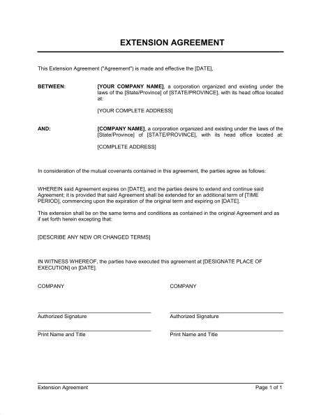tenancy agreement renewal template lease agreement extension template lease extension