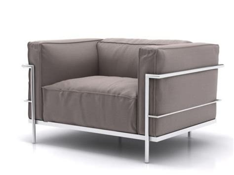 lc3 armchair lc3 armchair 3d model cassina