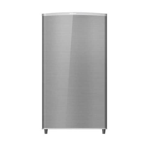 harga sharp kulkas 1 pintu sj m165f ss silver