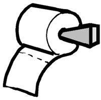 toilet paper go potty clipart cliparthut free clipart