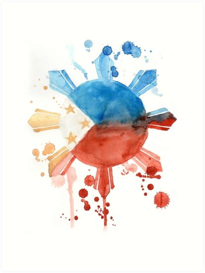 watercolor tattoos philippines philippine flag inspired print by