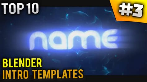 top 10 blender intro templates 3 free download youtube