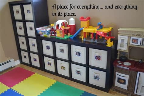 Playroom Storage Containers | east coast mommy diy toy bin labels