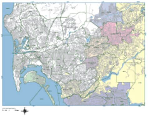 san diego digital vector maps download editable