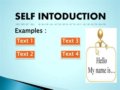 Presentation Of Self Introduction Self Introduction Ppt
