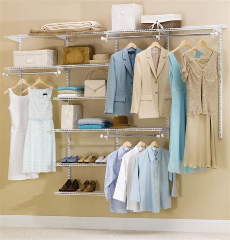 Custom Closet Organization Systems by Rubbermaid Configurations Custom Closet Organizer Deluxe 4 To 8 Foot White