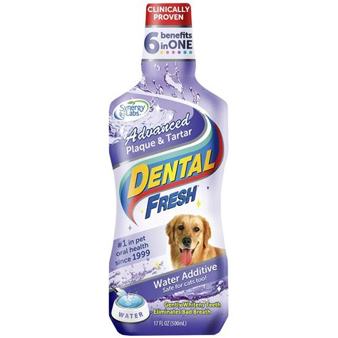 water additive for dogs dental fresh 174 advanced plaque tartar water additive for dogs 17 fl oz healthypets