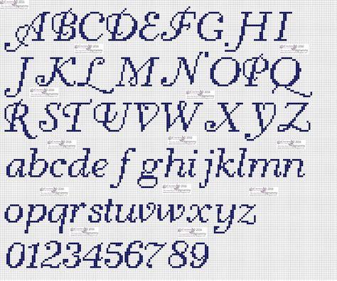 lettere punto croce corsivo amorevitacrocette punto croce alfabeti in corsivo