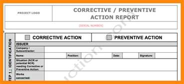 7 corrective action plan template excel graphic resume