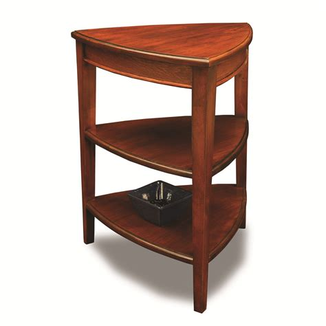 Corner Side Table Leick 9009 Favorite Finds Shield 3 Tiered Corner End Table Atg Stores