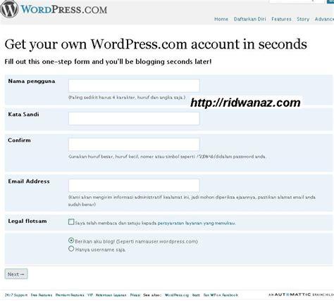 membuat blog di wordpress org cara membuat blog di wordpress