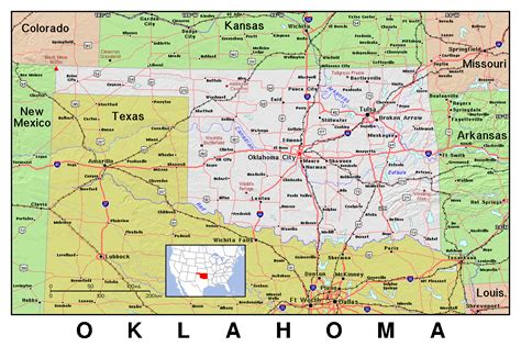 oklahoma state map oklahoma state map images