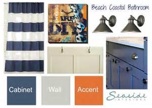 Nautical Themed Bathroom Ideas Seaside Interiors Kids Coastal Bathroom Design Board