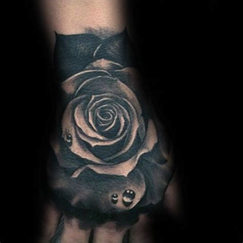 mens black rose tattoo 80 black designs for ink ideas