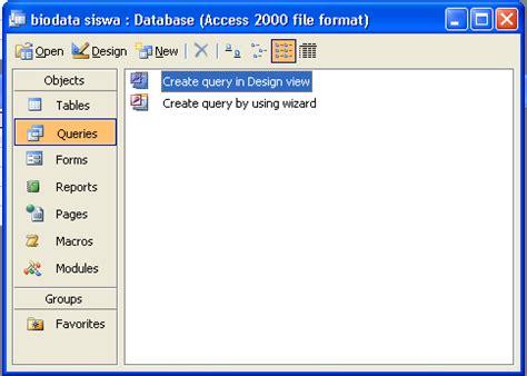membuat query microsoft access 2010 membuat query database di ms access tutorial tik ptd
