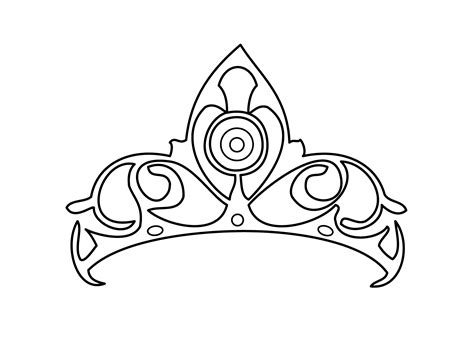 coloring page of a princess crown princess tiara coloring pages coloring home