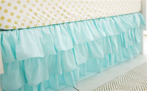Mint Crib Skirt by Mint Ruffled Crib Skirt Baby Crib Skirt Nursery