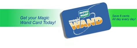 Motomart Gift Card - get the best gas reward card in the business the motomart magic wand card offers