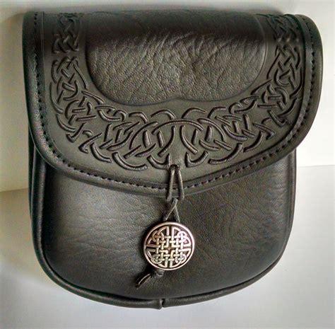 celtic leather belt pouch by oberon desgin fairyglen