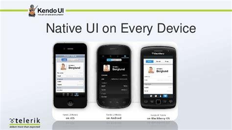 kendo ui mobile hybrid mobile app with kendo ui mobile