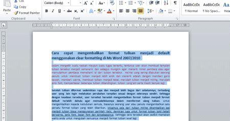 format tulisan artikel cara terbaik mengembalikan format tulisan menjadi default