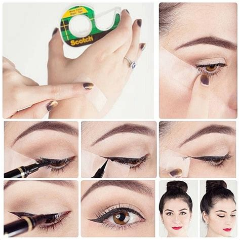 tutorial eyeliner con scotch step by step winged eyeliner tutorial bonus tips and