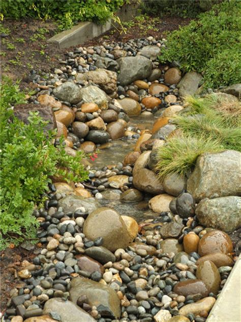 how to build a dry creek bed swales