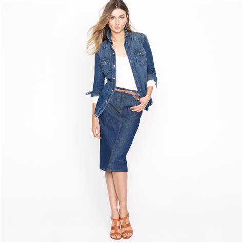 denim high waisted pencil skirt dress