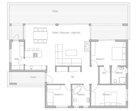 contemporary plan small house plan ch140 in contemporary architecture small