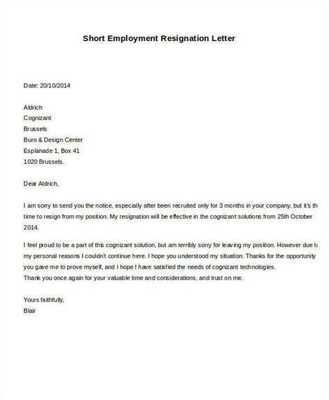 formal resignation letter samples ms word