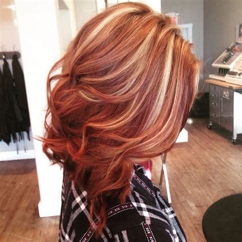 blonde and copper hairstyles 25 best red hair with highlights ideas on pinterest red