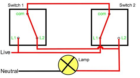 one light two switches wiring diagram one way switch