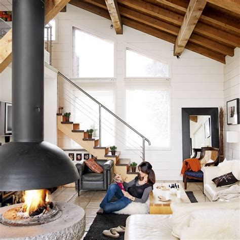 ski home decor living room romantic alpine chalet house tour