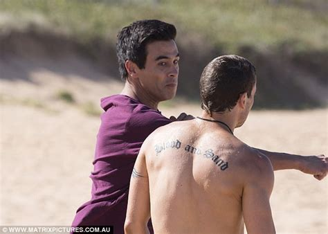 james river tattoo stewart brawls with a river boy on home and away set